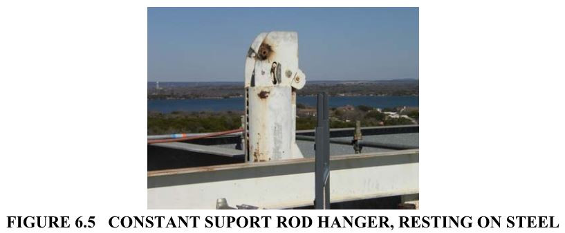 FIGURE 6.5   CONSTANT SUPORT ROD HANGER, RESTING ON STEEL