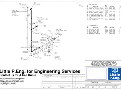 Piping Isometrics & BOM Services