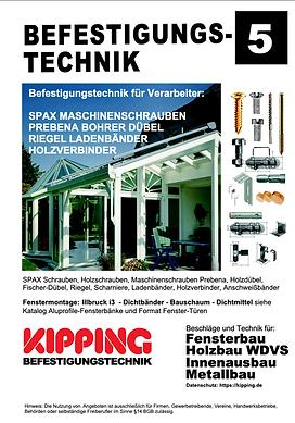 Kipping Katalog Befestigungstechnik Schrauben Bohrer Dübel