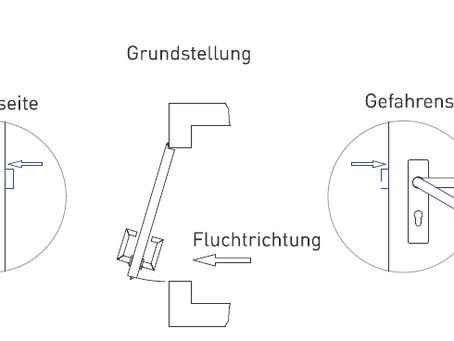 Fluchttürfunktionsbeschreibung für Panikschlösser*