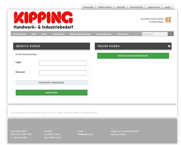 Onlineshop Karl Kipping GmbH