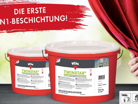 KEIM Twinstar® - Die erste 2in1-Beschichtung für Fassaden