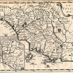 Map of Tuscany from 1645