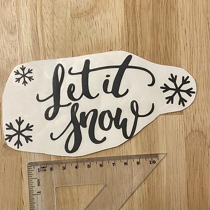 """""""Let it snow"""", Sticker/Aufkleber für Abklebetechnik"""
