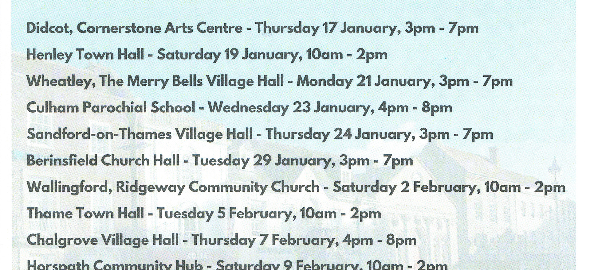 South Oxfordshire come and talk sites