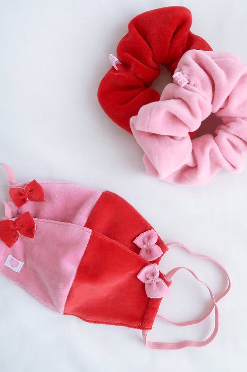 Meant to be, scrunchie and facemask set