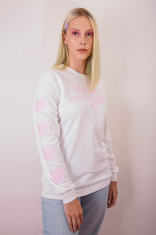 Hearts for pink long sleeve