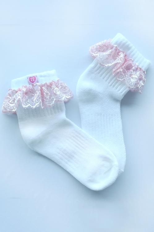Babypink frill me socks