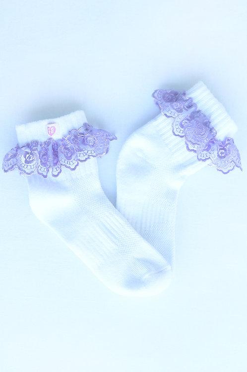 Lilac frill me socks