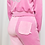 Thumbnail: Pink on pink velour trackie pant