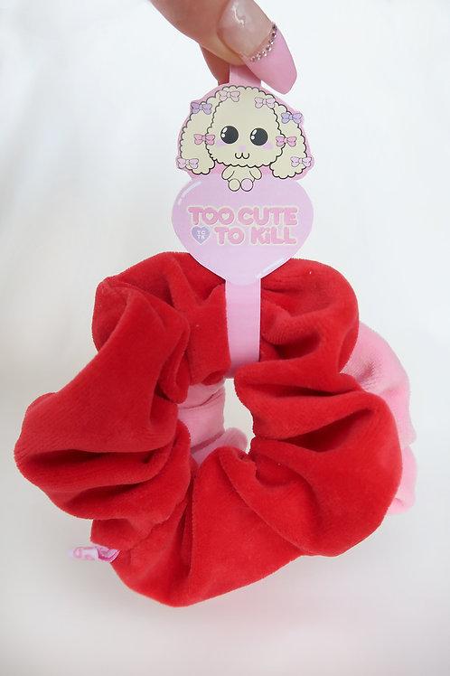 One of each scrunchie set