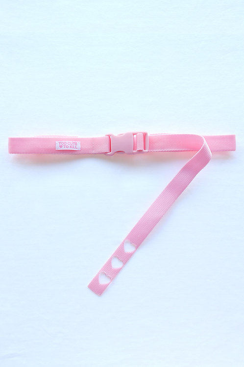 We heart the tiny-buckle belt soft pink