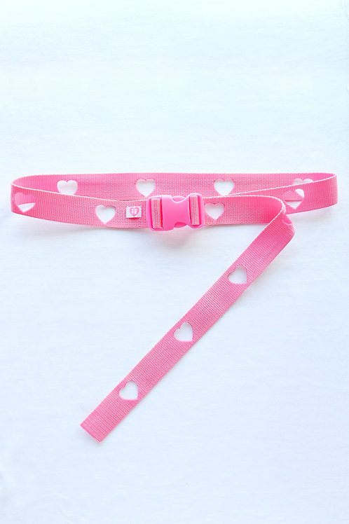 We heart the buckle belt valentines edition pink