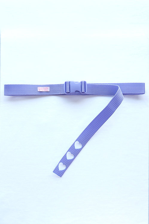 We heart the buckle belt lilac