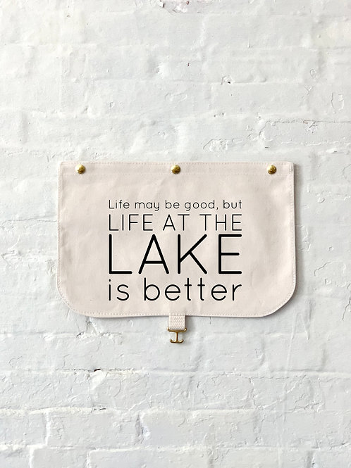 Life At The Lake Is Better Flap - Customizable