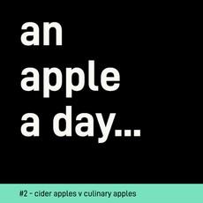 Cider Apples v Culinary Apples