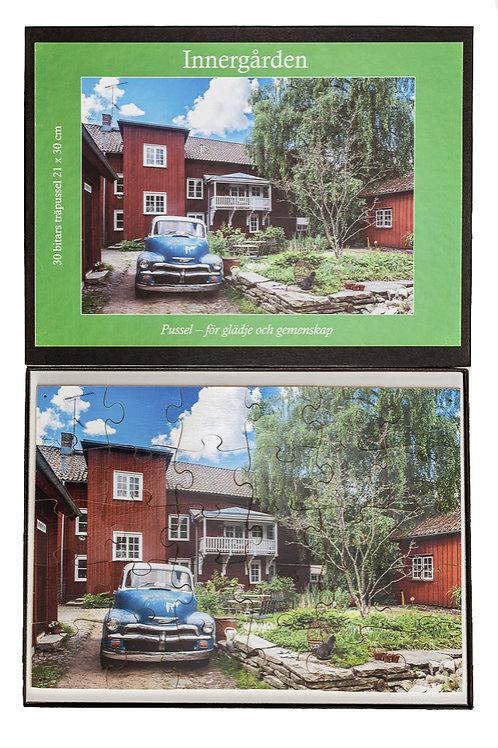 Träpussel Innergården 30 bitar