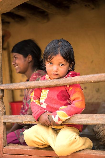 Barn i Nepal