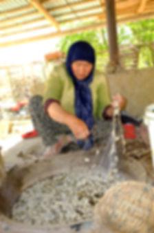 Kvinna Kirgizistan