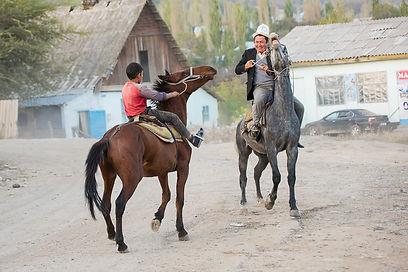 Ryttare Kirgizistan