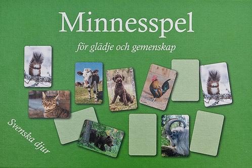 Minnesspel - Svenska djur