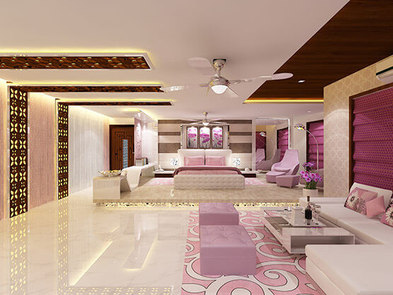 Master bed room interior design