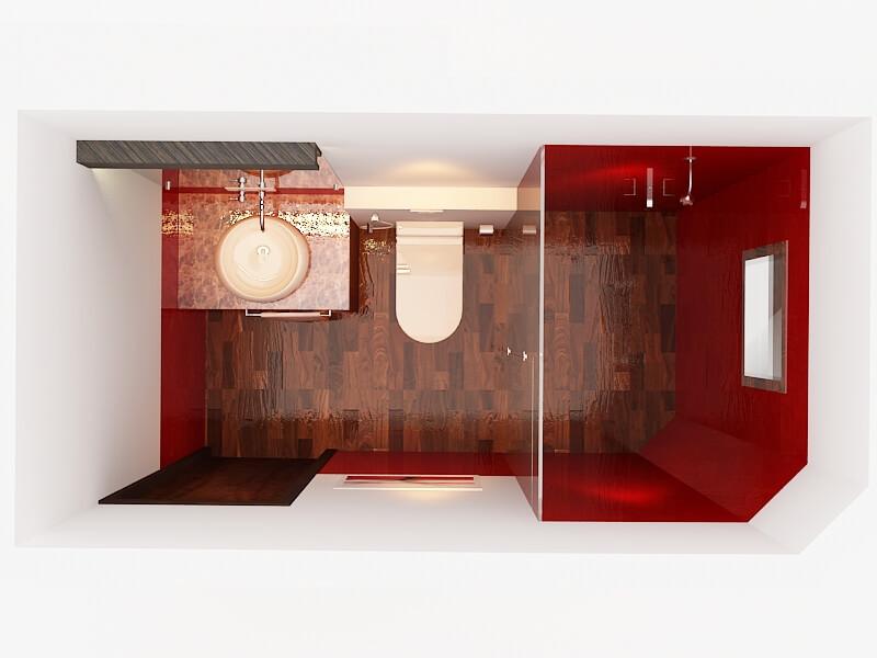 Toilet top view