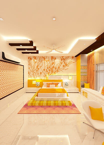 Children bed room interior