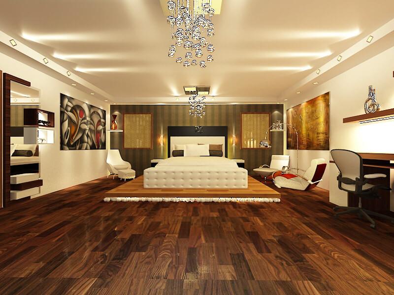 Studio bed room interior