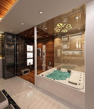 Master toilet interior