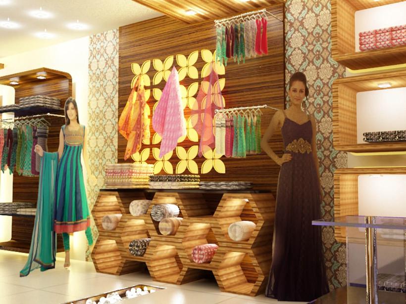 Detail of retail rack