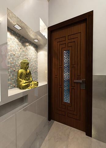 single door detail design