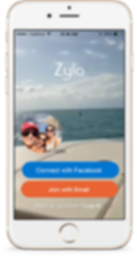 iOS9 UI and UX design mock up with iPHone 6,6s image. App store zylo app. UI/UX designer
