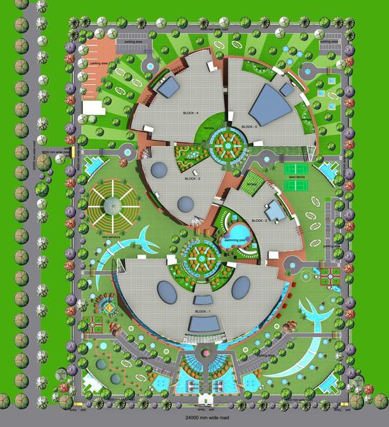 Landscaped Site Plan Entertainment Hub