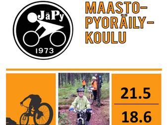 JäPy järjestää kolmannnen maastopyöräilykoulun lapsille!