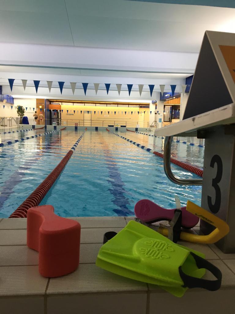 Uimahalli hiljeni harjoituksemme päätteeksi