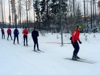 Hieno hiihtokeli tänään Terholassa!