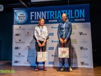 JäPyn Jenni Greijulalle ikäsarjan Suomenmestaruus täydenmatkan triathlonissa Tahkolla!