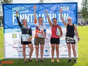 JäPyn menestys jatkui Finntriathlon Vierumäellä 2.7.2016