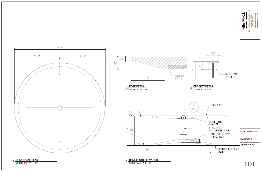 Conference table- Shop Drawing