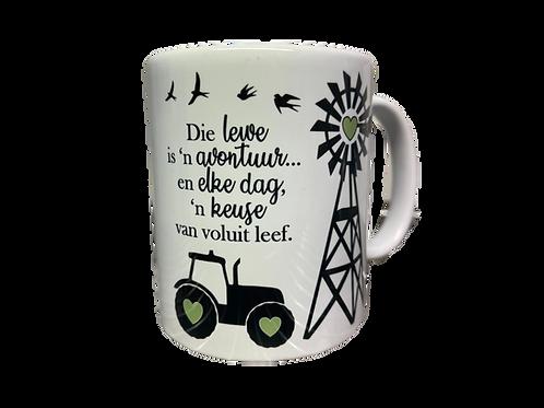 """#26 Coffee Mug """"Die lewe is n avontuur"""""""