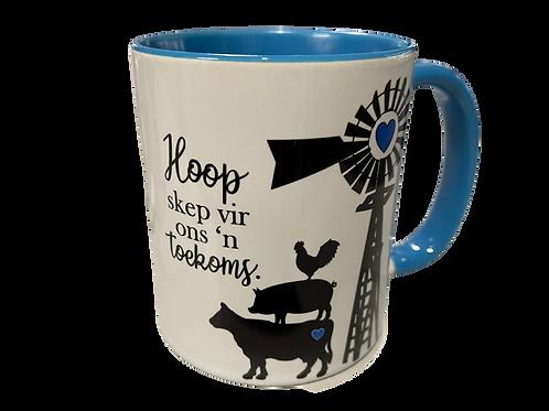 """#33. Coffee Mug """"Hoop skep vir ons n toekoms"""""""