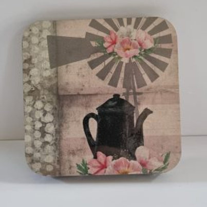 Fynbos Cosmos teapot  Coasters 4's