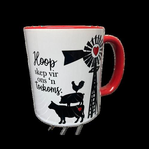 """#29 Coffee Mug """"Hoop skep vir ons n toekoms"""""""