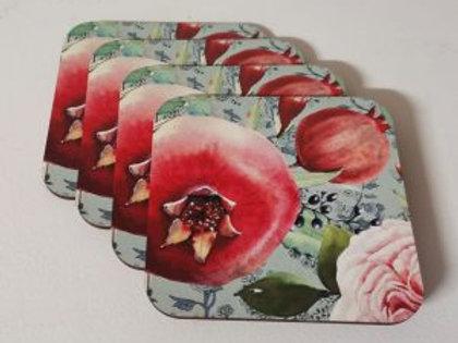 Fynbos Pomegranate Coasters 4's