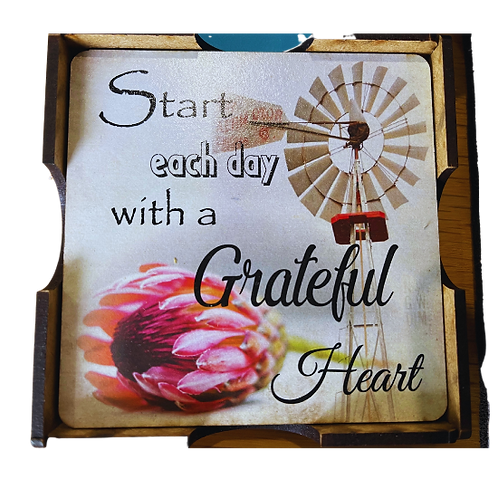 """""""Start Each Day..."""" Coasters 4's"""