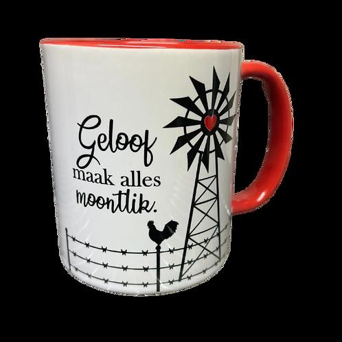 """#30 Coffee Mug """"Geloof maak alles moontlik"""""""