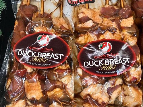 Duck Breasts on skewers (3 pack - +/- 155g per skewer)