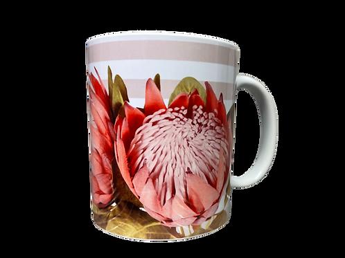 "#27 Coffee Mug Protea 1 ""Vrede laat jou Siel rus vind"""