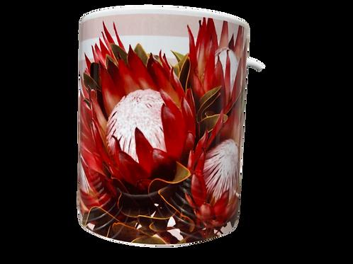 "#25. Coffee Mug with handle Protea 2 ""Hoop skep..."""
